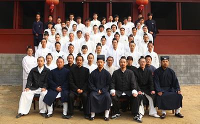 2013年师行道长首次收徒仪式