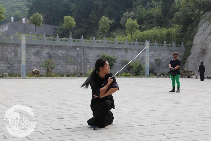 武当三丰派第十六代传人唐伟表演武当剑