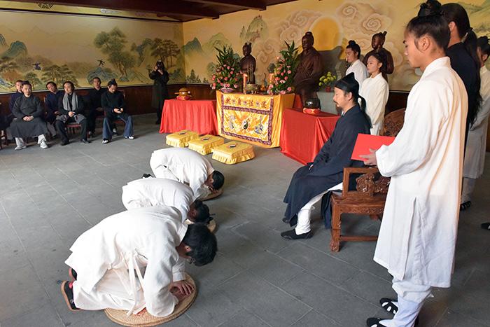 武当三丰派传人陈师行道长收徒仪式
