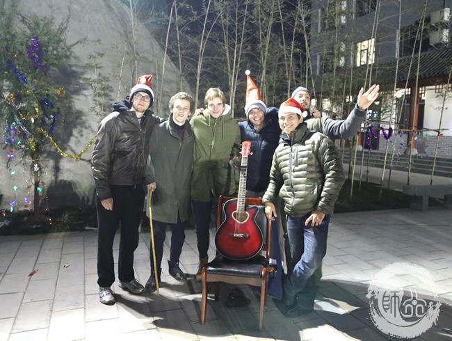 师行武馆2014圣诞晚会国外学员合影
