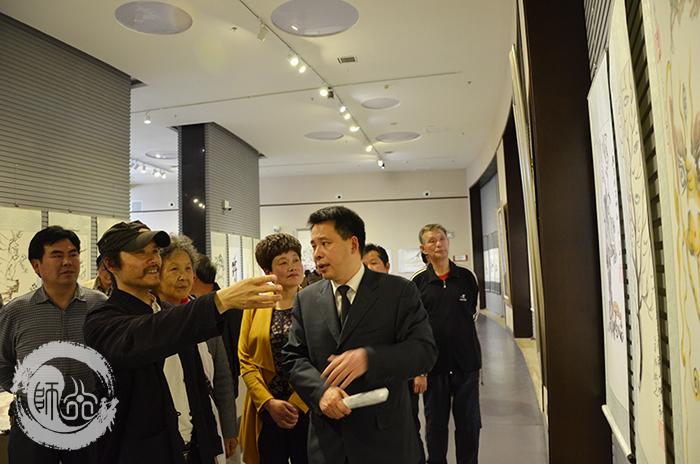 武当与五岳美术作品书画展在武当山地质博物馆启动